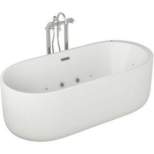 BAIGNOIRE - KIT BALNEO Baignoire hydromassante - 170x80x58cm - Design bla
