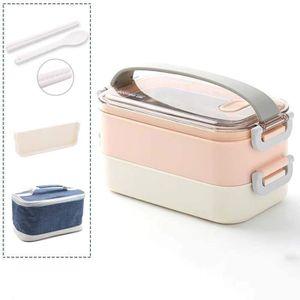 LUNCH BOX - BENTO  RoseLunch Box-Lunch Box, Lunch Box Adulte pour Enf
