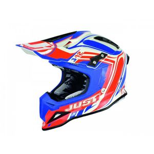 CASQUE MOTO SCOOTER Casque Cross Just1 J12 Flame Rouge/Bleu Taille Xs