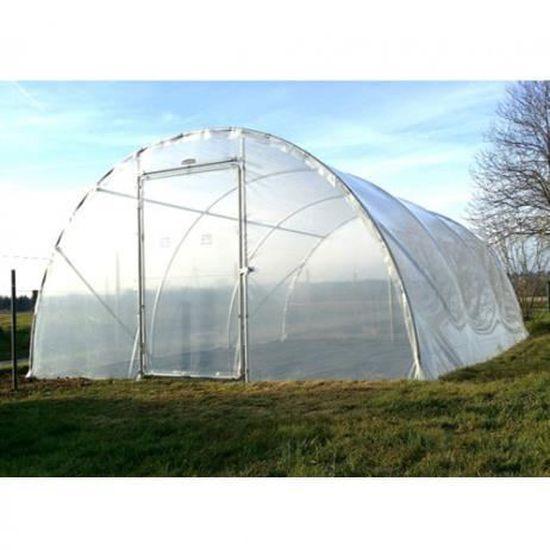 Fabrication Fran/çaise Soit 8 m/² Culture-Serres Tunnel /à Tomates 2,0 x 4,0 M
