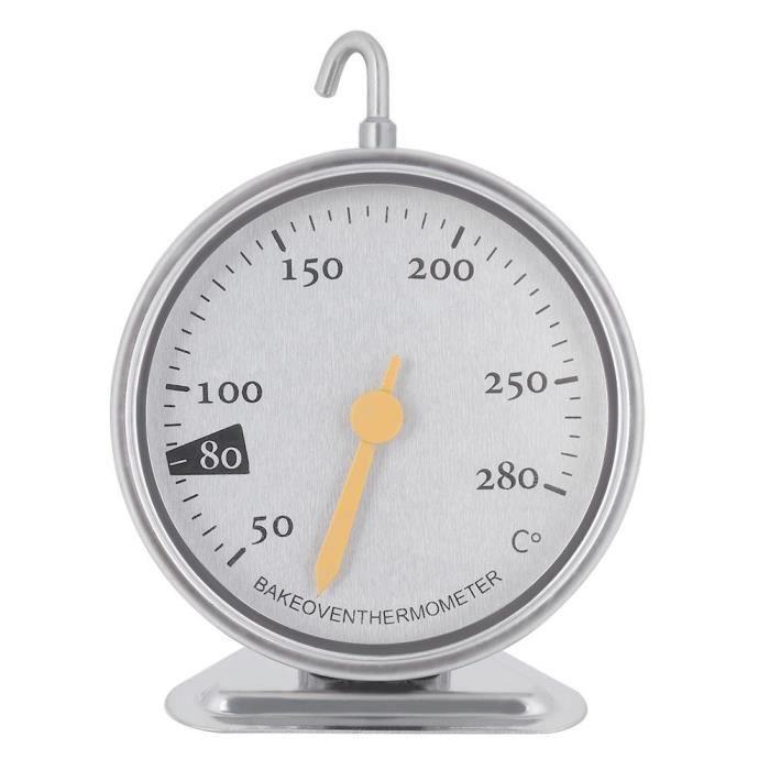 Thermomètre de four large cadran cuisine 50 à 280 en acier inoxydable-YIG