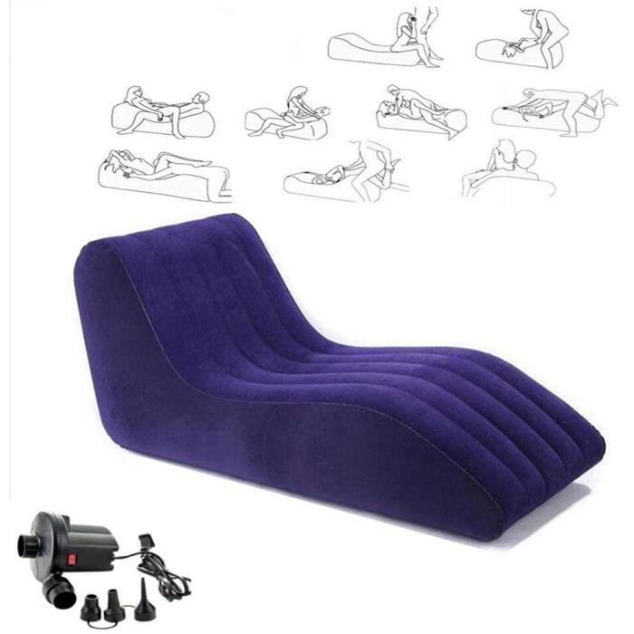 Mobilier érotique Coussins Matelas Sofa Gonflable Pliant Portatif Chaise Longue Mobilier De Sexe SM (avec Pompe à Air) 161724