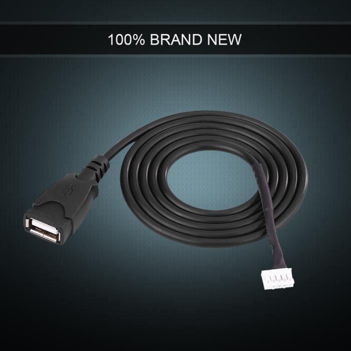Câble USB de voiture pour Peugeot Peugeot 307 Citroen C2 C3,Câble adaptateur USB pour autoradio avec outils de retrait