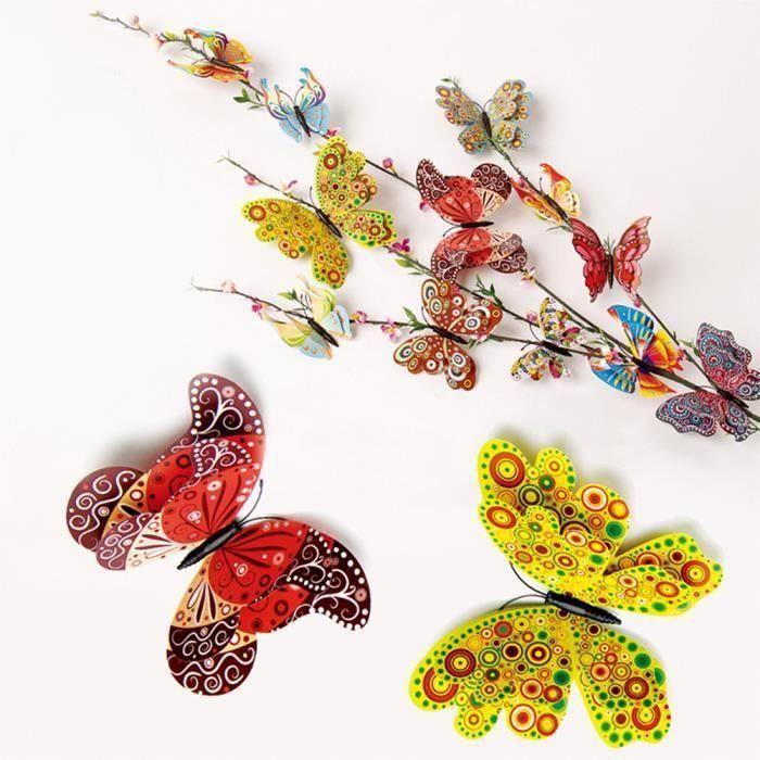 objet décoratif 3D DIY Type Pin Home Décor papillon robe rideau Décore accessoiresWLL80821021BSAN1718 Ve18721