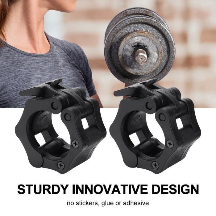 Verrou d'haltère, Spinlocks noirs, plastique pour la fixation de la plaque de poids