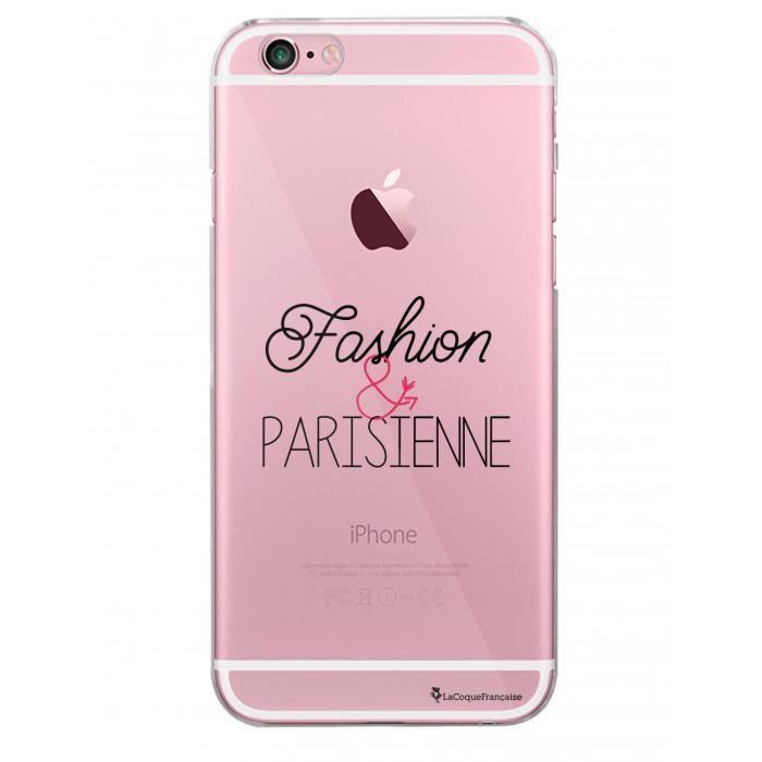 Coque iPhone 6 iPhone 6S rigide transparente Fashion et Parisienne Ecriture Tendance et Design La Coque Francaise