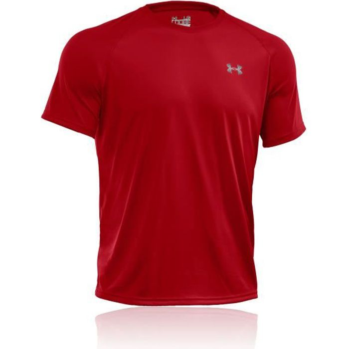 Under Armour Tech Running T-Shirt Manche Courte Rouge Homme