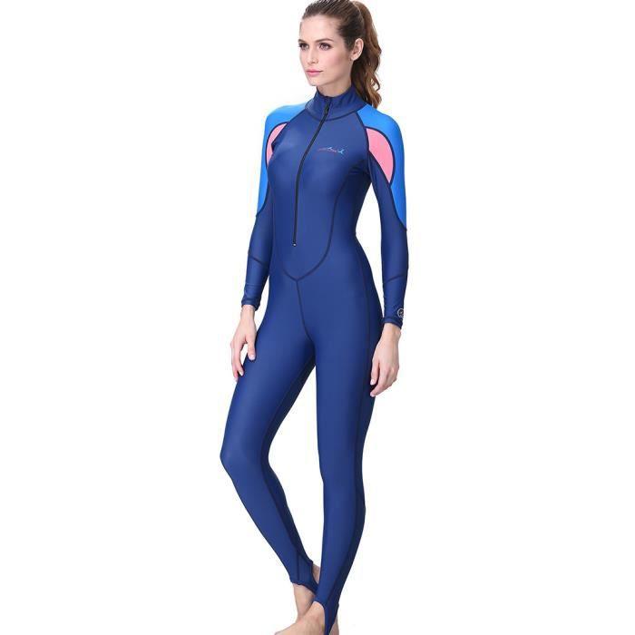 Femmes Snorkeling Surf Plongée sous-marine monopièce Full Body Combinaison Maillot de bain