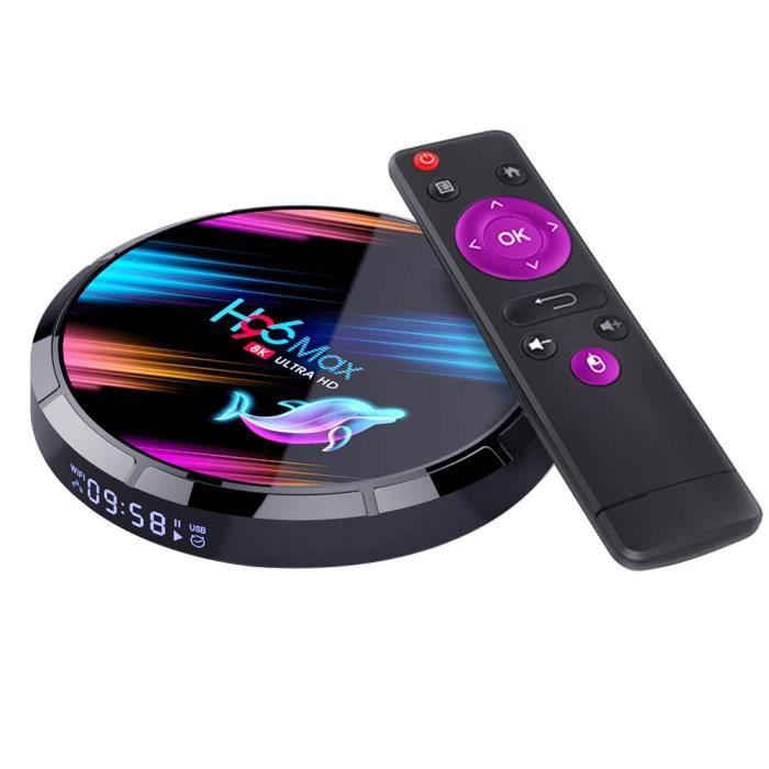 Smart TV BOX H96 Max X3 Quad Core HD 8K Wi-Fi Media Player compatible avec Android 4 + 64G