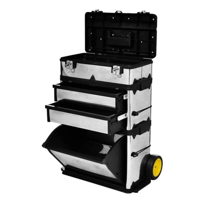 Caisse valise coffre Boîte à outils Mallette à outils Caisse à outils à roulette