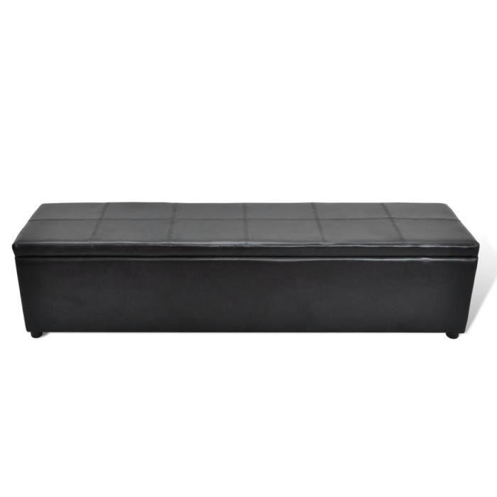 Luxueux Magnifique Banc banquette coffre de rangement noir taille large