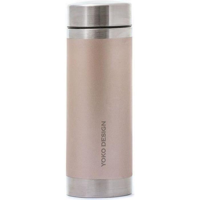 YOKO DESIGN Bouteille isotherme avec filtre à thé - Irisé or - 350 ml