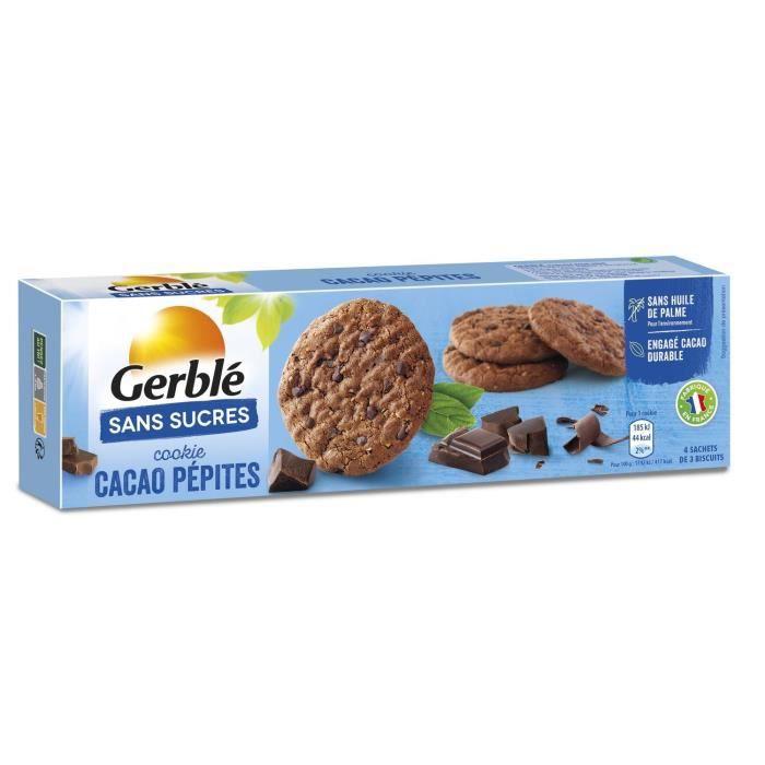 GERBLE Cookies aux pépites de chocolat et cacao - 130 g