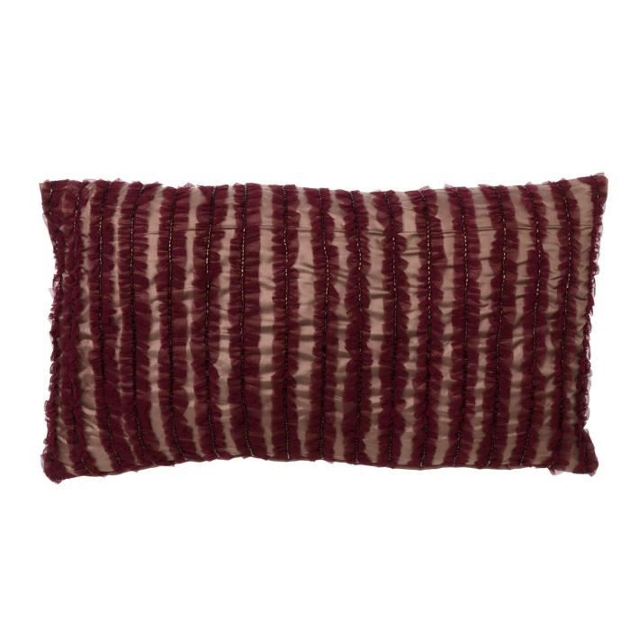 housse de coussin henley 30x50 cm aubergine achat. Black Bedroom Furniture Sets. Home Design Ideas