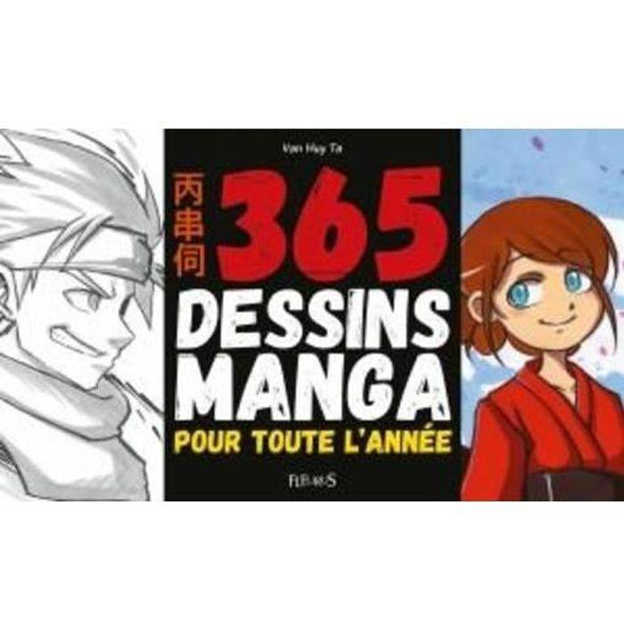 LIVRE LOISIRS CRÉATIFS Livre - 365 dessins manga pour toute l'année