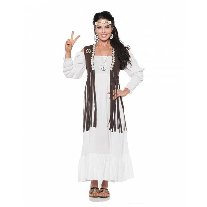 Robe Hippie Avec Gilet A Franges Size L Achat Vente Accessoire Deguisement Cdiscount