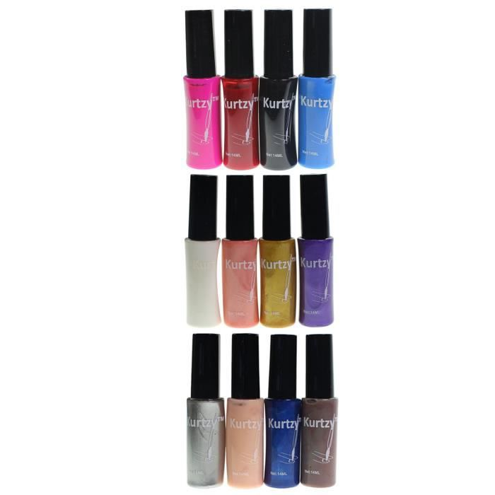 12 vernis a ongles qualit assortiment couleurs achat - Meuble rangement vernis a ongles ...