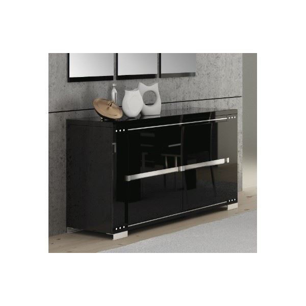buffet bahut perla noir laqu brillant l 147 achat vente buffet bahut buffet bahut. Black Bedroom Furniture Sets. Home Design Ideas