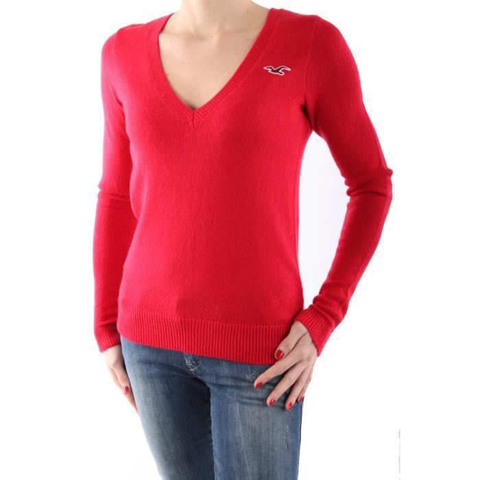Pull Hollister By Abercrombie Co... Rouge
