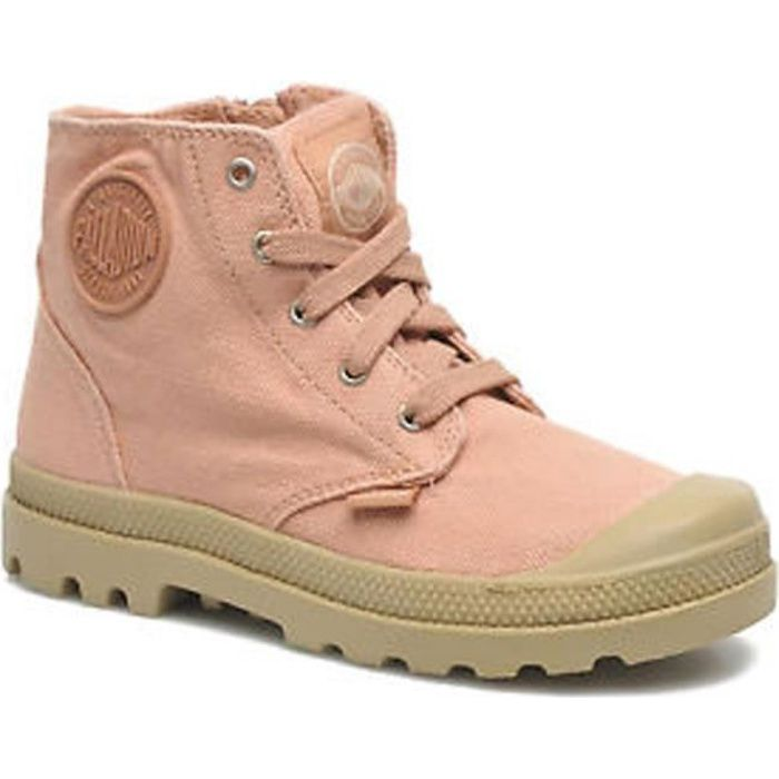 Palladium basket femme pampa Hi toile Orange saumon - Achat   Vente ... dac61db229b2