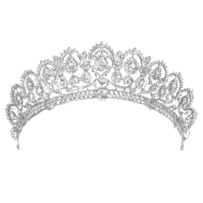 DIADÈME tiare nuptiale, grande couronne de reine en crista