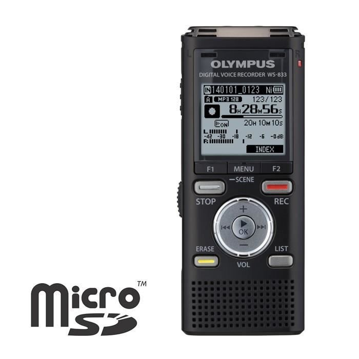 olympus ws 833 dictaphone dictaphone magneto avis et. Black Bedroom Furniture Sets. Home Design Ideas