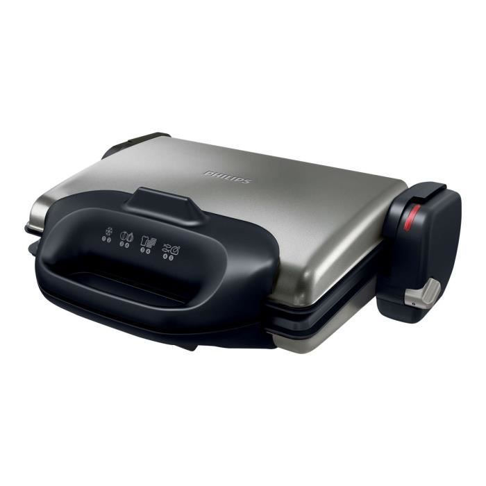 Philips HD4468 Grille-sandwich - gaufrier - grill 2000 Watt noir ...