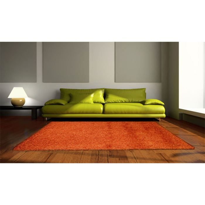ab arancio 40 tapis shaggy cm 200x200 achat vente. Black Bedroom Furniture Sets. Home Design Ideas