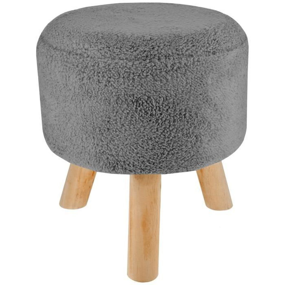 tabouret pouf repose pieds polaire scandinave sherpa. Black Bedroom Furniture Sets. Home Design Ideas