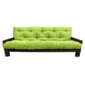 CANAPÉ - SOFA - DIVAN Canapé Vienna W., futon vert pomme, 207x100x30 cm