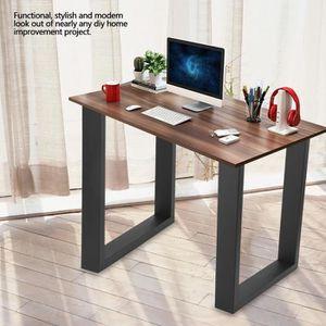 PIED DE TABLE 2PCS Pieds de table de bureaux industrielle en aci
