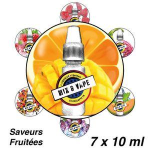 LIQUIDE X7 E-Liquides Découverte-6mg/ml-Saveurs Fruitées-1
