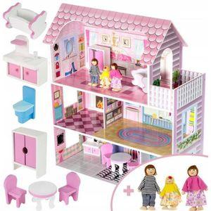 MAISON POUPÉE Dodo Toys Grande Maison en Bois pour Poupées 60 x