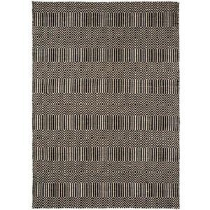 COUVERTURE - PLAID Tapis poil ras Sloan Noir & Blanc 160x230 cm - Tap