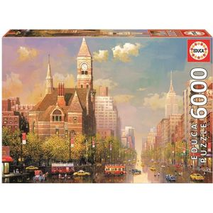 PUZZLE EDUCA Puzzle 6000 Pièces - New York Afternoon