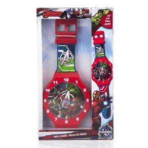 HORLOGE - PENDULE Horloge murale Avengers XL 47 cm montre Disney enf
