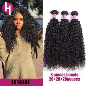 PERRUQUE - POSTICHE 3 tissage bresilien boucle cheveux naturels humain