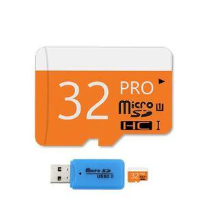 CARTE MÉMOIRE Carte Mémoire Micro SD 32 Go + Adaptateur SD + Clé