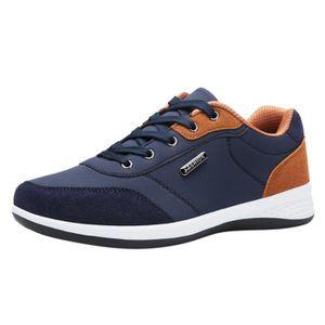 MOCASSIN Mode Lace Up Casual Sport en cuir Chaussures de co