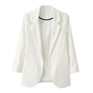 Pour Femme Froncé Manches Longues Bouton Avant Panneau Coupe Slim blazer jacket top