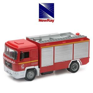 VOITURE - CAMION NEW RAY  Camion Pompier - Miniature  - 1/43° - 18