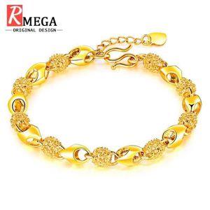 18K or jaune rempli de femmes multi-couleur topaze Blossom Fleur Bracelet Breloque