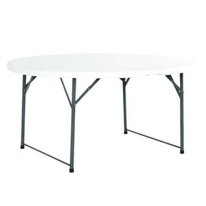 table ronde 150 cm achat vente table ronde 150 cm pas cher cdiscount. Black Bedroom Furniture Sets. Home Design Ideas