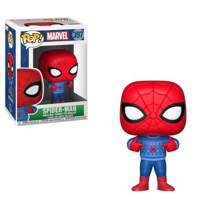Figurine Funko Pop! Marvel: Holiday Spider-Man (avec pull moche)