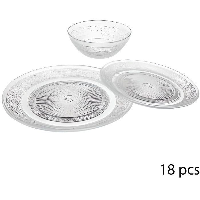 Service à vaisselles - 18 pièces - Renaissance Transparent