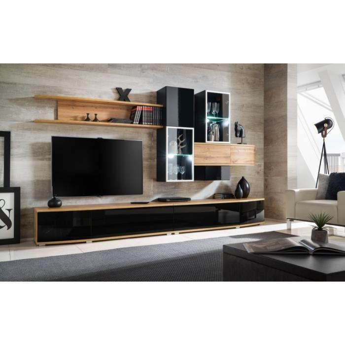 Ensemble meuble TV mural - ABW Manhattan - 300 x 45 x 180 180 cm