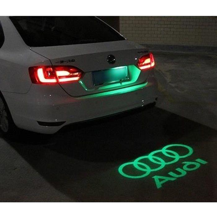 Logo coffre AUDI LED Lumière Verte de Courtoisie Ghost Shadow Light voiture
