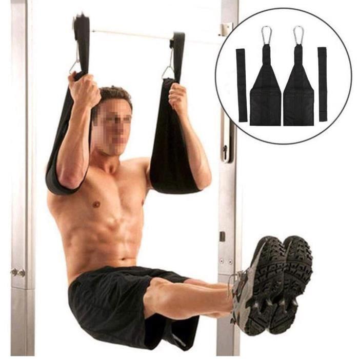 Sangle Suspendue en AB Barre Suspension de Gymnastique Musculation Fitness Abdominal à Maison-TIP