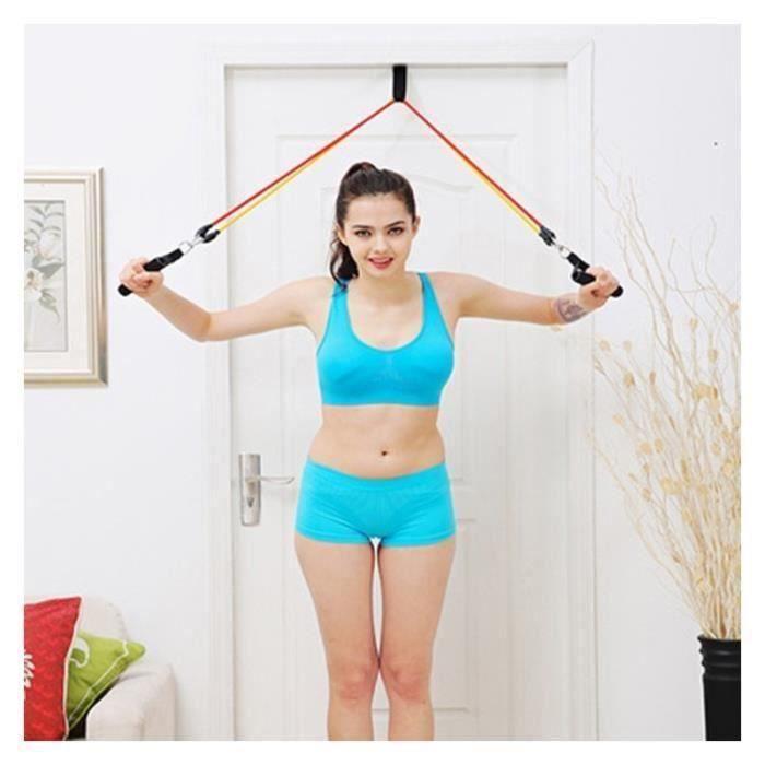 Fitness Poitrine Latex Portable Expander Pull corde Crossfit Muscle formation résistance du câble Trainer Ensemble des bandes de