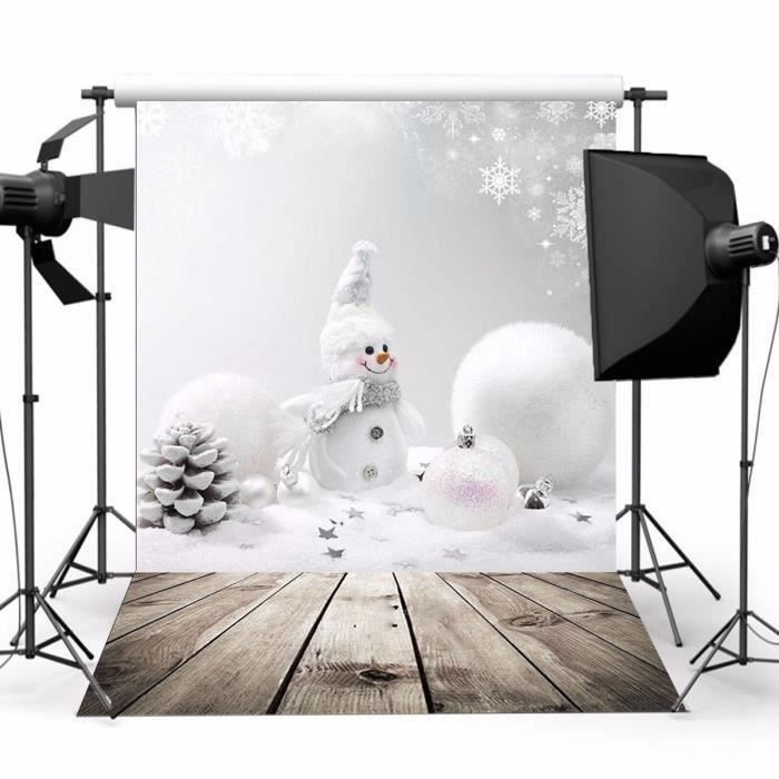 U Toile de Fond Photographie Studio Photo Noël Bonhomme Neige 3x5ft